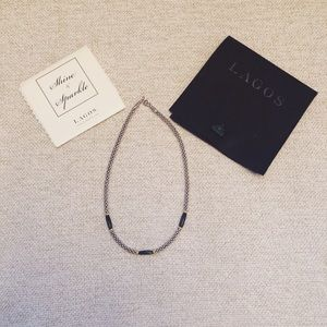 LAGOS Jewelry - Lagos Caviar necklace with Onyx and Gold details